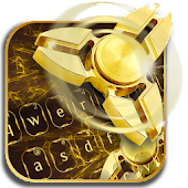 Fidget Spinner Golden Luxury Keyboard Theme