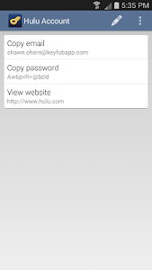 Keyfob Password Manager screenshot 1