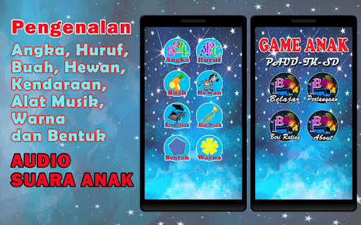 Game Edukasi Anak: PAUD-TK-SD (Ful Audio)  screenshots 1