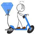 Stickman Stealing the Diamond:Think out of the box icon