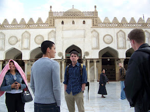 Photo: In the courtyard of the mosque.