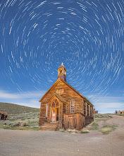 Photo: Bodie Methodist Church at Night
