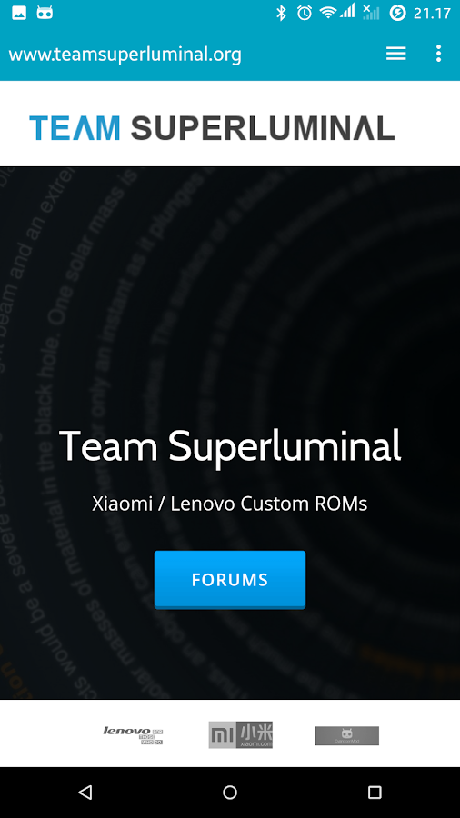 Team Superluminal Support- screenshot