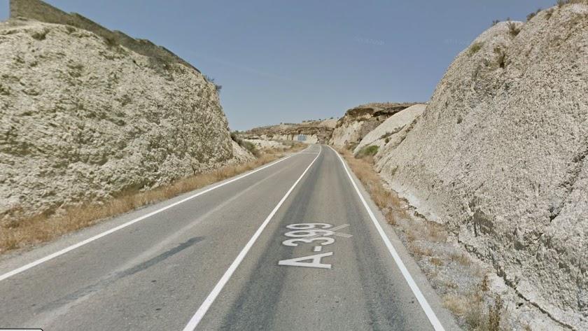 Imagen de la A-399 a su paso por Partaloa en una captura de Google Maps.