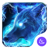 Starlight Galaxy Ice  Wolf-APUS Launcher theme