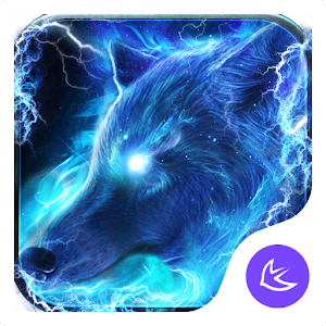 Starlight Galaxy Ice Wolf APUS Launcher Theme