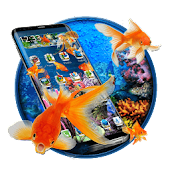 3D Gold fish aquarium theme