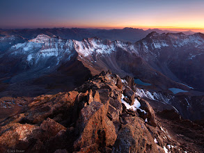 """Photo: Post-sunset ambient light illuminates the rocks on the summit of <a href=""""search.php?q=mt.%20sneffels"""">Mt. Sneffels</a>, September."""