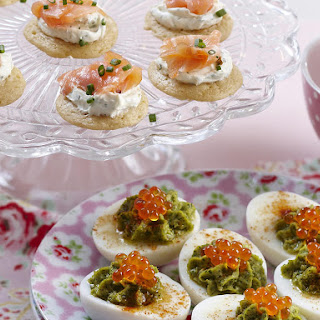 Smoked Salmon Blini and Stuffed Eggs