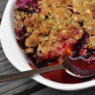 Blueberry and Apricot Crumble