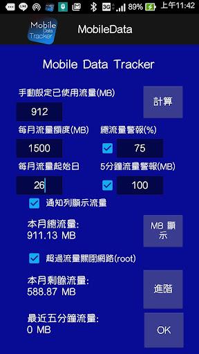Mobile Data Tracker 行動數據偵測