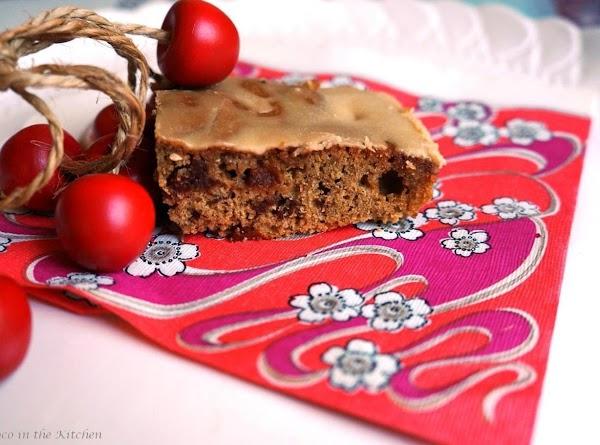 Mocha Cherry Cake With Maple Butter Glaze Recipe