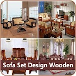 Sofa Set Design Wooden Icon
