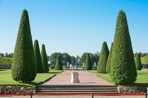 Peterhof-Palace-rear-gardens.jpg - The Upper Garden of Peterhof Palace near St. Petersburg, Russia.