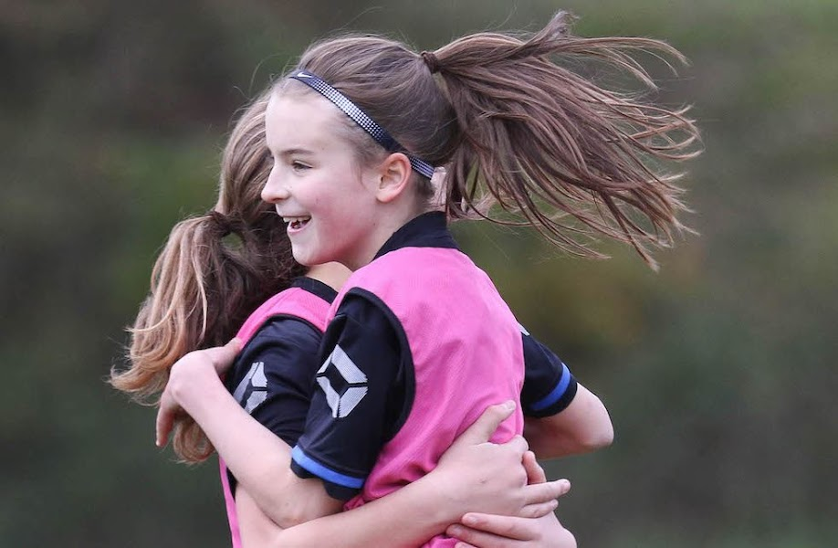 Berriew: a hive of activity for girls' football