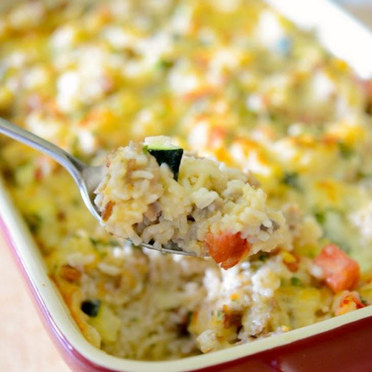 Sausage, Zucchini & Rice Casserole Recipe