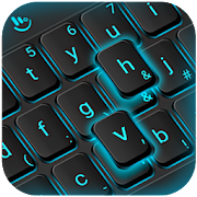 Blue Light Black Keyboard Theme