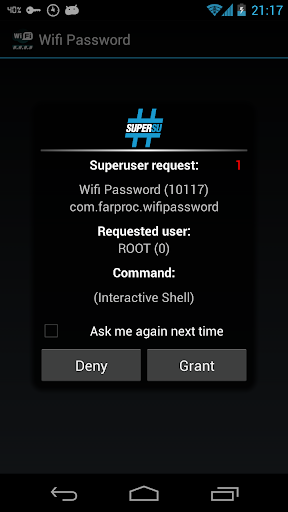 Wifi Password(ROOT) screenshot 2