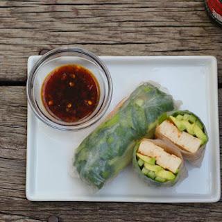 Vegetarian Tofu Summer Rolls