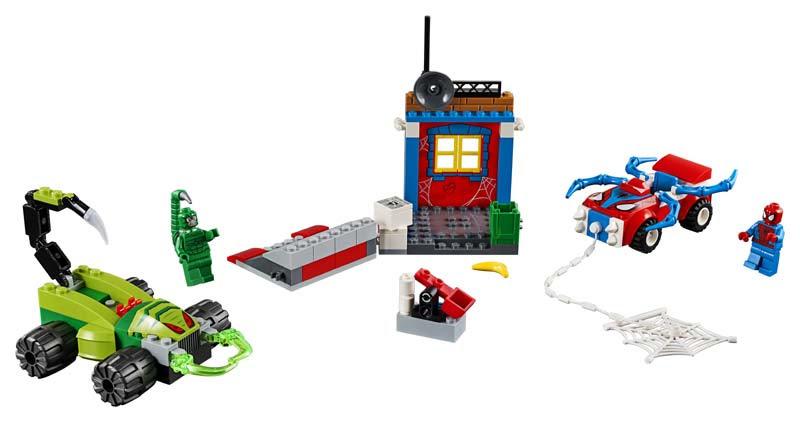 Contenido de Lego® 10754 Spider-Man vs. Escorpión: Batalla Callejera