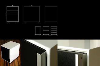 Photo: White Lacquered Desk Drawer