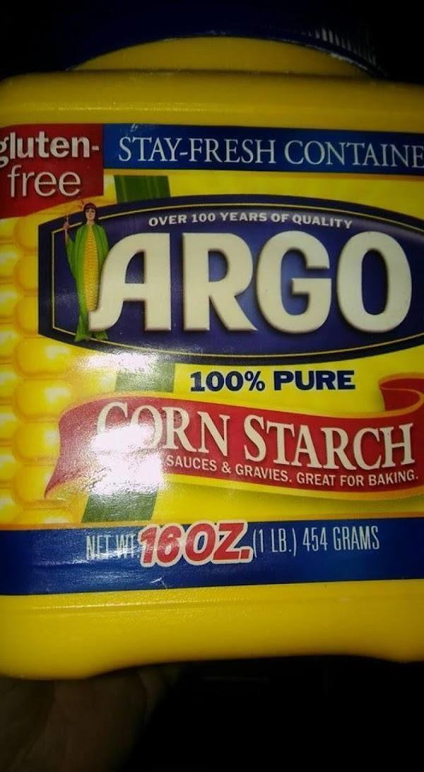 Corn starch for thickening gravy.