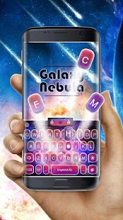 Galaxy Dreamy Nebula Keyboard Theme - náhled