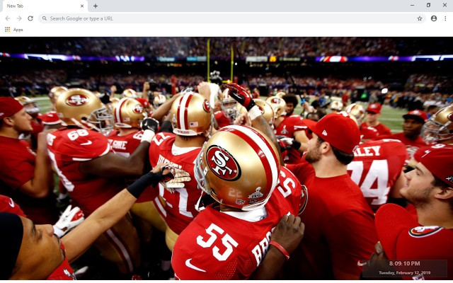 NFL San Francisco 49ers New Tab Theme