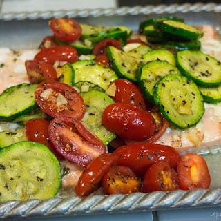 Tomato Zucchini Salmon Recipe