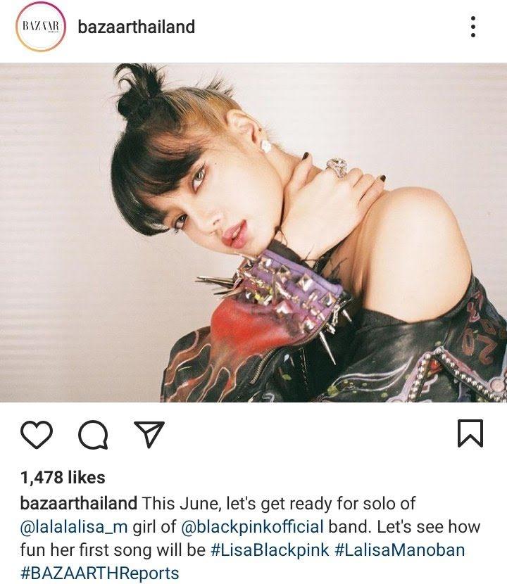 blackpink lisa harpers bazaar thailand @pnkshvts