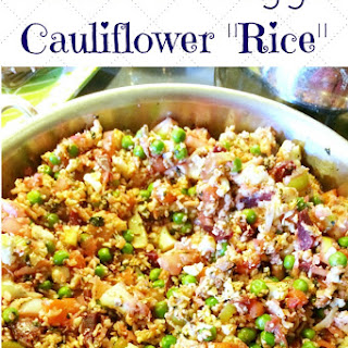 "Rainbow Veggie Cauliflower ""Rice"""