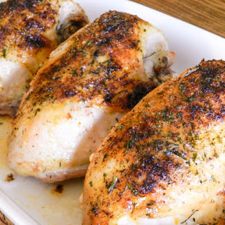 Roasted Brined Chicken with Honey Butter Glaze