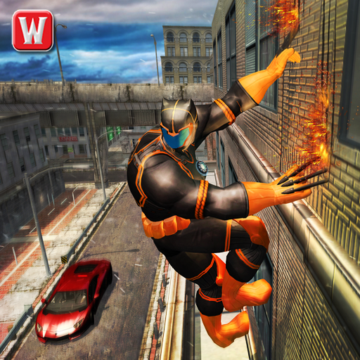 Superhero Panther Flying City Gangster Crime Fight
