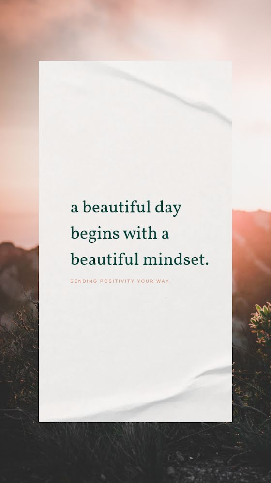 A Beautiful Mindset - Facebook Story Template