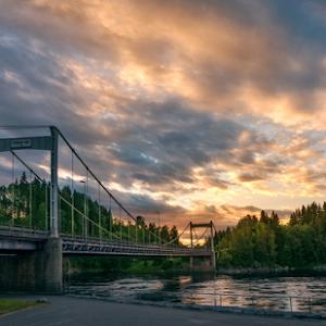 Spydeberg, Norway  0013 - Sunset over the Bridge.jpg