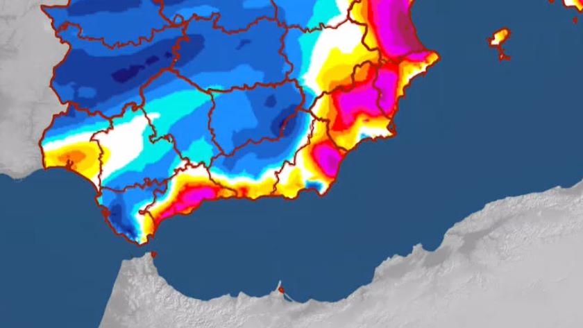 Mapa térmico publicado esta mañana por la Agencia Estatal de Meteorología.