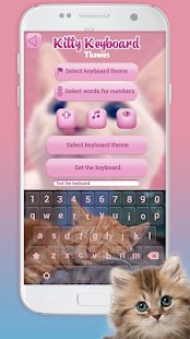 Kitty Keyboard Themes: Cute Cat Keypad Wallpaper - náhled
