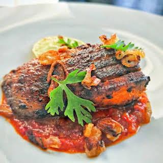 Pan-fried Masala Sea Bass.