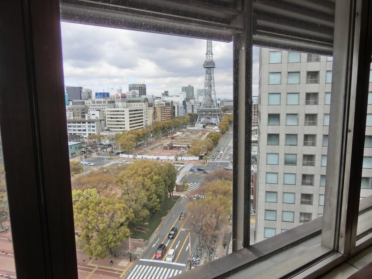 中日ビル12階クラブ東海からの風景