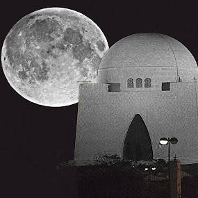 Super Moon by Yasir Saeed - Black & White Buildings & Architecture (  )