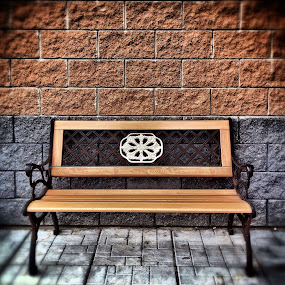 The Bench by Geary LeBell - Instagram & Mobile iPhone ( block wall, bench, seat, block, wall )