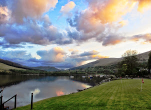 Photo: May sunset from Briar Cottages garden Loch Earn, Lochearnhead