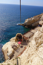 Photo: Cable car ride down to the natural caves.