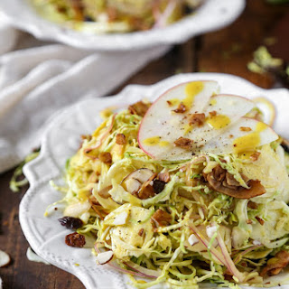 Shaved Brussels Sprouts Salad.