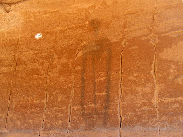 Barrier Canyon Style pictograph in Bull Hollow