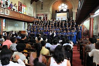 Photo: cérémonie dans un temple anglican