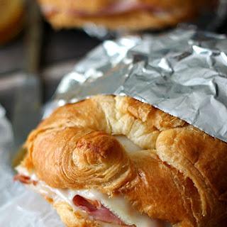 Hot Ham & Swiss Croissants.
