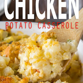 Cheesy Chicken Potato Casserole