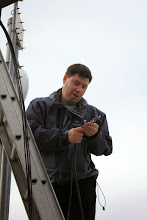 Photo: William preparing to install the HSMM cable