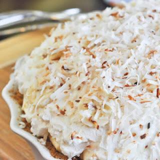 Vanilla Coconut Banana Cream Pie.